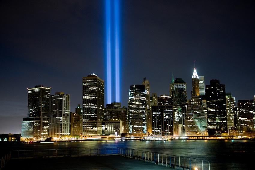 Lichtverschmutzung durch Tribute in Light